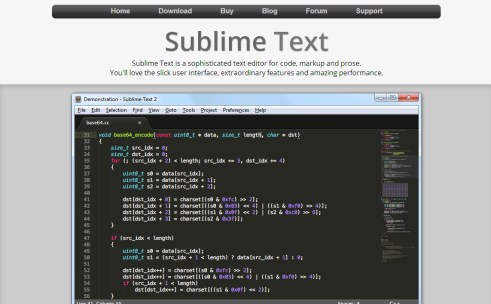 Sublime Text 2のイメージ