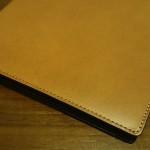 SlipOn(スリップオン) ロディア#16(No.16)用レザーカバー正面の革の質感