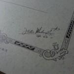 ツバメノート スパイラルノート セクション表紙のサイン