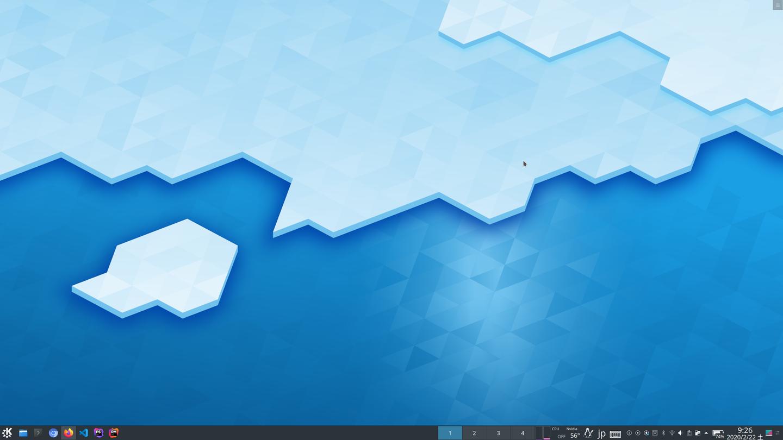 KDEデスクトップ