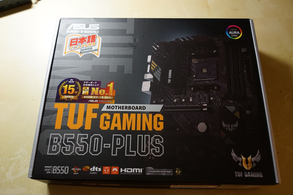 ASUS「TUF GAMING B550-PLUS」